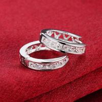 New Women Fashion Jewelry  Silver Plated Small Huggie Hoop Earrings