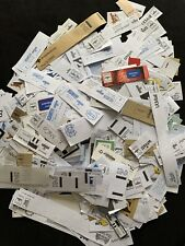 Job Lot 400 gms of Commercial Postal Labels and Postal Frankings.  Boxed.