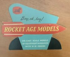 Original Corgi Toys Rocket Age Shopkeeper's Card Display stand - rare!