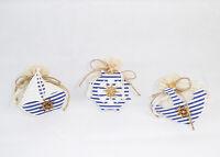 Bomboniera sacchetto sagomato tema mare timone legno comunione comunione wedding