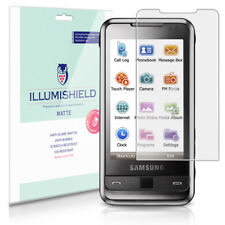 iLLumiShield Matte Screen Protector w Anti-Glare/Print 3x for Samsung Omnia