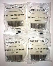 AmerFresh Shaving Mug Soap   4 Soaps / 1.5 oz Each   NEW