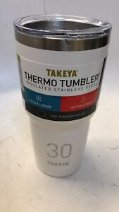 Takeya Originals Vacuum-Insulated Stainless-Steel Tumbler with Sip Lid, 30oz,
