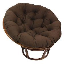 Blazing Needles Solid Twill Papasan Chair Cushion, Chocolate
