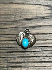Sterling Silver Heart Turquoise Pendant