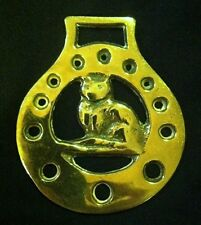Wonderful Vintage CAT SITTING Horse Harness Brass Eng WOW YOUR WALLS! CAT LOVER