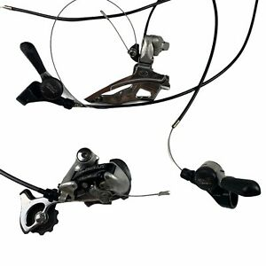 VTG Shimano Exage 400 LX Front Rear Derailer Deore XT SIS 7S Levers Set Complete