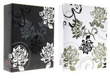 "Black White Beautiful Slip In Photo Album Set Of 2 x 300 6"" x 4"" Photos Gift"