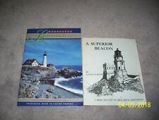 Split Rock Lighthouse by Glenn Sandvik & Lighthouses Pictorial Guide - 2 Books