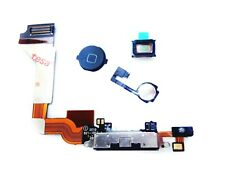 iPhone 4 Charging Port Dock Connector Flex Cable Ear Speaker Home Button Black