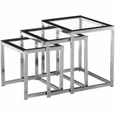 Less than 60cm High Glass Square Modern Nested Tables