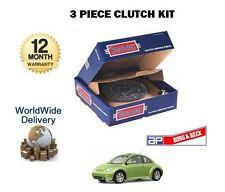POUR VW BEETLE 1.9TDi DIESEL 90BHP 1998-2004 3 PIÈCES KIT EMBRAYAGE COMPLET