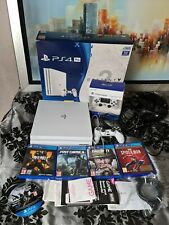 Sony PS4 Pro White Console 1TB Bundle!! with RECEIPT and BOXED 5 games and A40