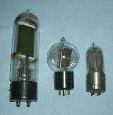 3 different desplay Western Electric vacuum tubes -211E, 205D, Vt1