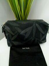Neues AngebotPaul Smith Schwarz Canvas Leaf Pattern Waschen Tasche