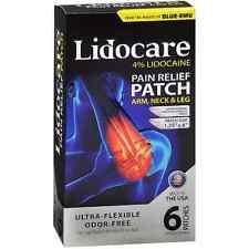 Blue-Emu Lidocare Arm, Neck - Leg Pain Relief Patch 6 ea