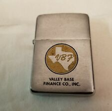 1967 Valley Base Finance co Inc Dallas Texas Advertising Zippo Lighter