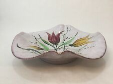 Vintage Italian Handpainted Art Ceramic Centerpiece Bowl, Signed by Marta