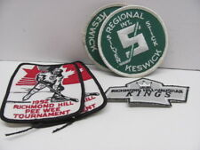 Lot of 5 Hockey Patches- Keswick-Richmond-Vaughan