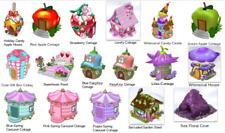 Webkinz online game Pick 3 virtual COTTAGE, HOUSE, GAZEBO, CAVE - HUGE SELECTION