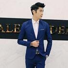 Korean Slim Fit Casual Blazer Men's suit Leisure Suit Single Button Solid Color