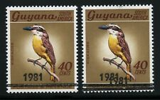 Guyana 1981 Vögel Schwefelgelber Tyrann 634 + doppelter Aufdruck MNH / 471