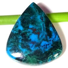 100% Natural Azurite Chrysocolla Cabochon 49.25 Cts Pear Shape Gemstone