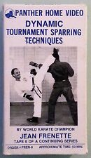 jean frenette DYNAMIC TOURNAMENT SPARRING TECHNIQUES #6 VHS VIDEOTAPE panther