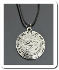 Halskette Anhänger Leder-Optik Kette Auge des Horus Ägyptischen Sonnengott 67aa469caa