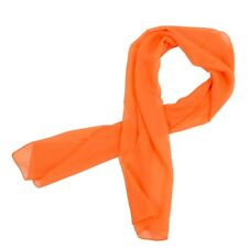 Women's Large Long Fashion Neck Head Scarf Orange B1r2 J5u3
