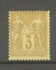 "FRANCE STAMP TIMBRE N° 86 "" SAGE 3c BISTRE SUR JAUNE "" NEUF xx TB"