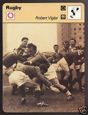 ROBERT VIGIER French Rugby Player Photo 1978 SPORTSCASTER CARD 28-04