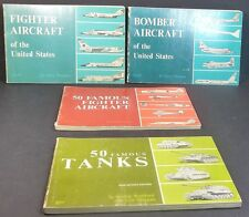 TANKS, BOMBER AIRCRAFT, FIGHTER AIRCRAFT, 50 FAMOUS FIGHTER AIRCRAFT Set of 4