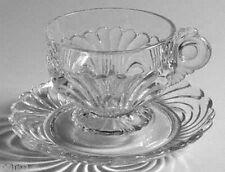 Cambridge Glass CAPRICE Clear Cup & Saucer Set