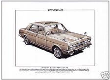FORD ZODIAC EXECUTIVE MkIV Mk4 (1966-72) - Fine Art Print  A4 size - Classic car