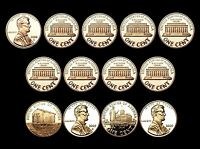 2000 2001 2002 2003 2004 2005 2006 2007 2008 2009 S Lincoln Mint Proof Set of 13