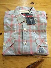 Duck & Cover 'Daryl' Check Short Sleeve Shirt/Dove - Medium (DAC140147)