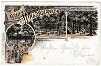 AK Leipzig-Lösnig - Waldschänke/Waldpartie/Wirtschaftsgebäude - Litho 1898