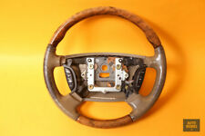2004-2007 JAGUAR XJ8 Steering Wheel Tan Leather Wood Air Bag Trim ADX - OEM