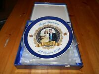 ROYAL CHRISTENING Oct 2013 - Prince George Of Cambridge Collector Plate In Box