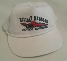 Holiday Rambler INDY 500 Adventure White Corded Snapback Hat! RV NASCAR