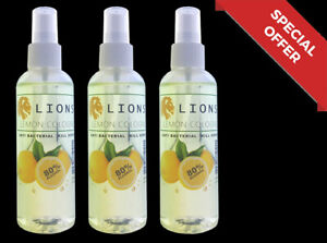 3x Lions Turkish Natural Lemon Cologne Aftershave %80 Alcohol Spray 100 ml