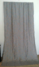 Gray Woven Beige Tan Chenille Embroidery Curtain Panel (1) 49 x 85 Grey