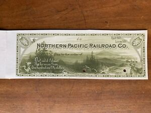 Northern Pacific Railroad Co proof check American Bank Note Co NY 1880s illust