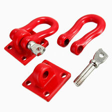 1 par escala gancho grilletes rojo 2x para RC SCX-10 camión de orugas