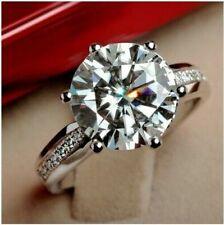 Diamond 14K White Gold Fancy Ring Engagement Wedding Ring Gorgeous 2.45 Ct Round