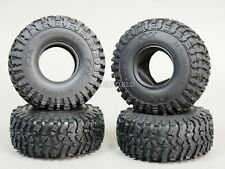 RC 1/10 Rubber TRUCK Tires OFF ROAD 1.9 ROCK CRAWLER Wheels 115mm W/ Foam-4PC