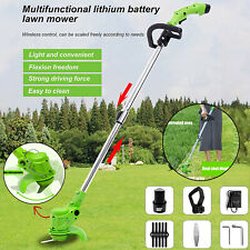More details for electric cordless garden grass trimmer weed strimmer cutter +  battery + blades