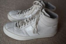 """Jimmy Choo """" Belgravia""""  high top, white leather, sneakers...size 41"""