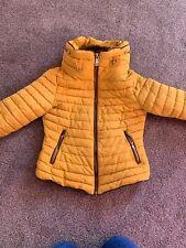 Ladies Zara Yellow/ Mustard Winter Coat, Size S